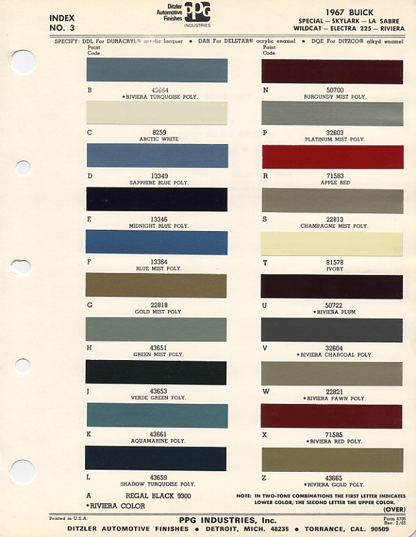 Gran Sport Information - 1969 camaro paint codes colors